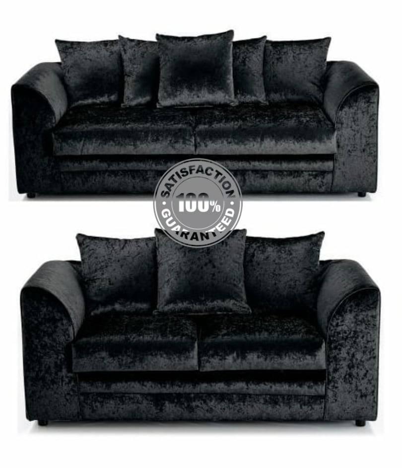Crushed Velvet 3+2 Seater Sofa Sofas
