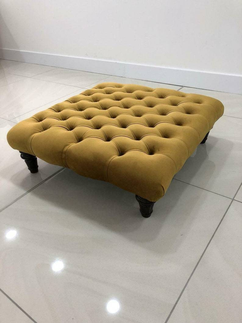 Wooden Leg Chesterfield Footstools Trending Product